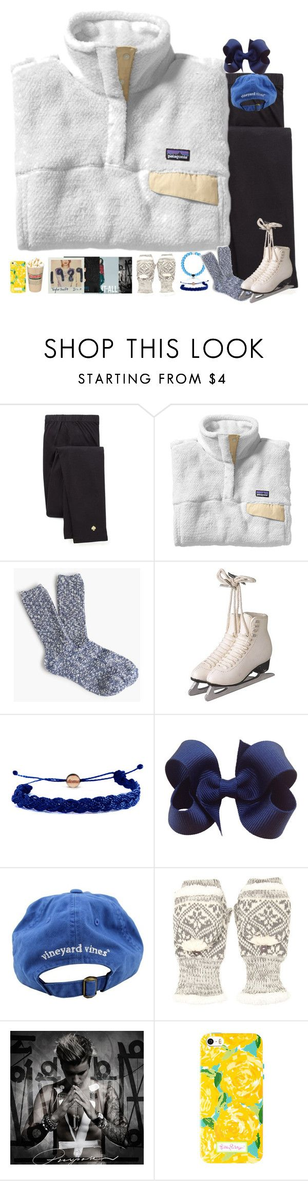 """""""Claire's Winter Vacay: Ice Skating"""" by remiii13 ❤ liked on Polyvore featuring Kate Spade, Patagonia, J.Crew, Domo Beads, Vineyard Vines, Forever 21, women's clothing, women, female and woman"""