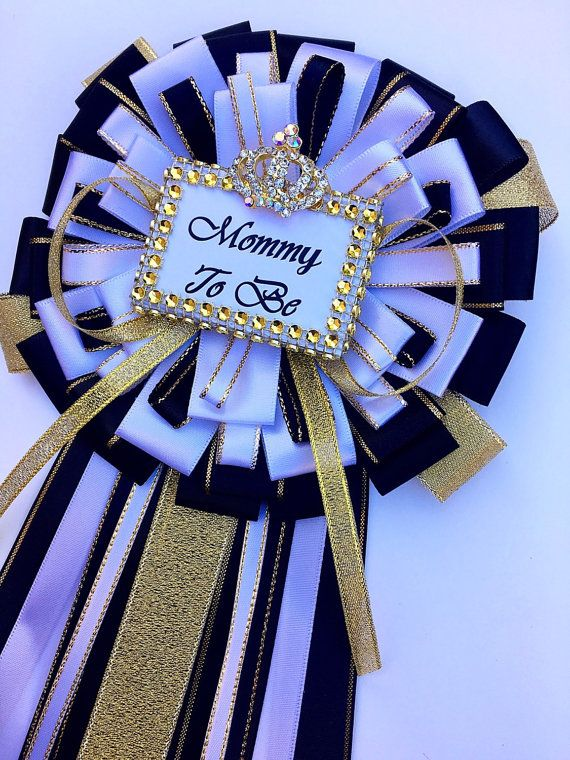 Black And Gold Mommy To Be Pin  Little Prince Baby Shower  Boy Baby Shower