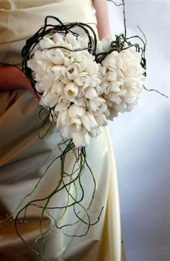 heart themed wedding bouquet / http://www.deerpearlflowers.com/twigs-and-branches-wedding-ideas/