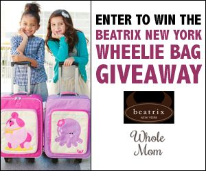 #ad Enter to win the Beatrix New York Wheelie Bag Giveaway from Whole Mom!  Facebook contest, like the page and wait a few seconds for the entry form to load.