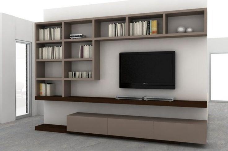 Mueble LCD + biblioteca