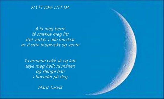 Flytt deg litt da Marit Tusvik