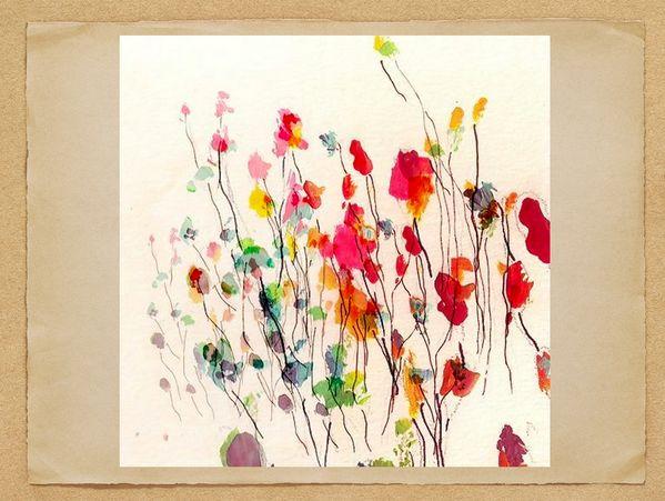 Met ecoline voorjaarsbloemen maken. Mooi effect!