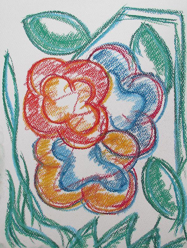 Flowers #art #pastels #summer #helsinki #finland #flower #abstract #drawing #nature