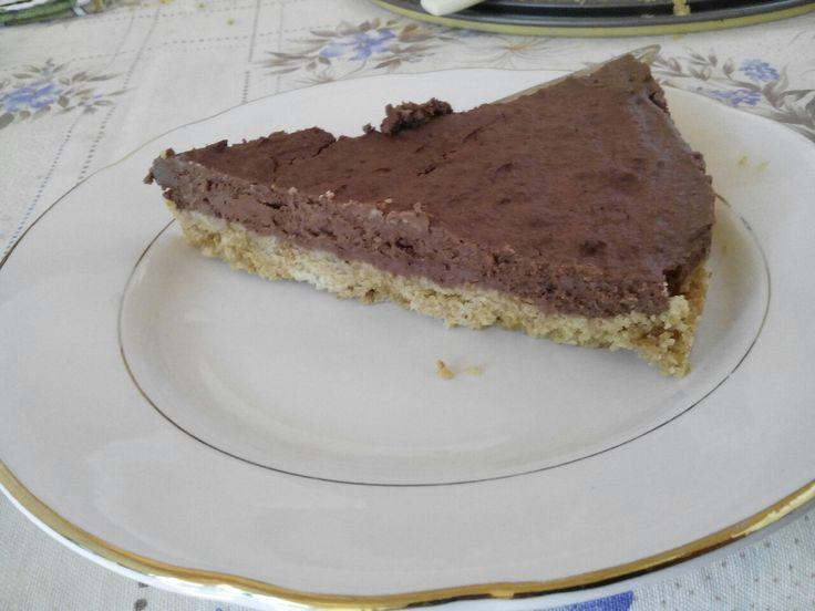 Cheesecake al cioccolato.