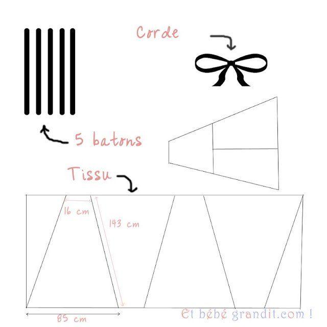 Tutoriel tipi enfant Avec 5 bâtons de diamètre 18