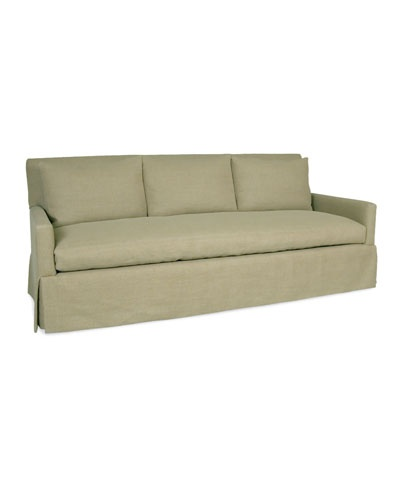 Captivating Complement Any Décor With This Skirted Three Seater Sofa. This Sofa Makes  The Most