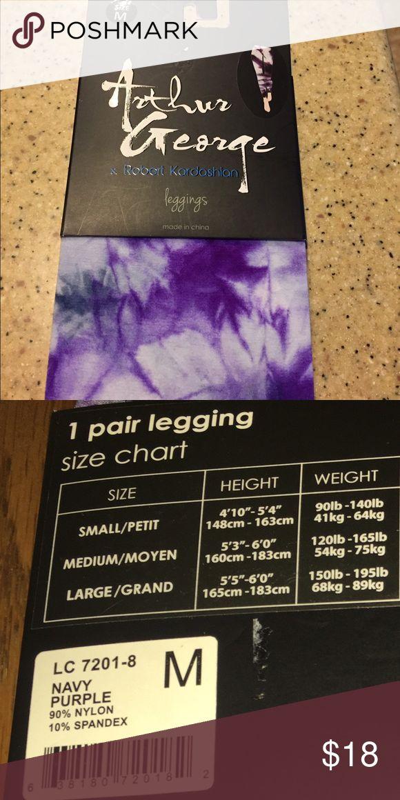 Leggings by R. Kardashian's Arthur George Soft, high quality leggings. These are a tie dye purple and navy blue. Arthur George Pants Leggings