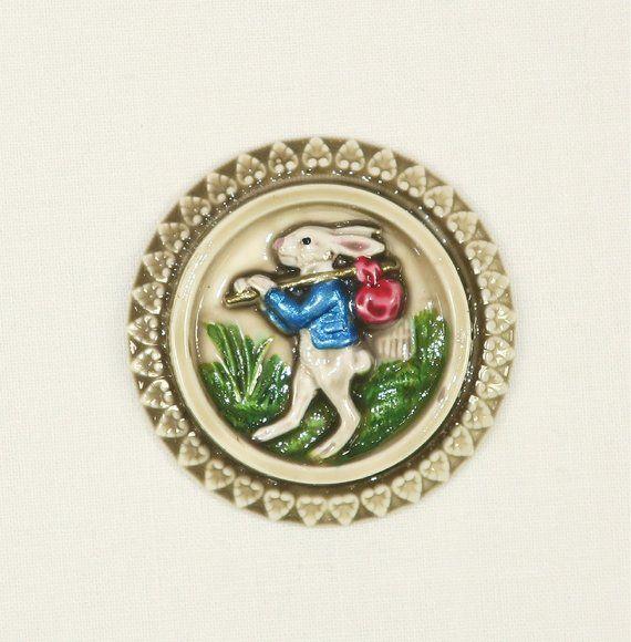 Peter Rabbit-Cabochon or Button-HPAS-30