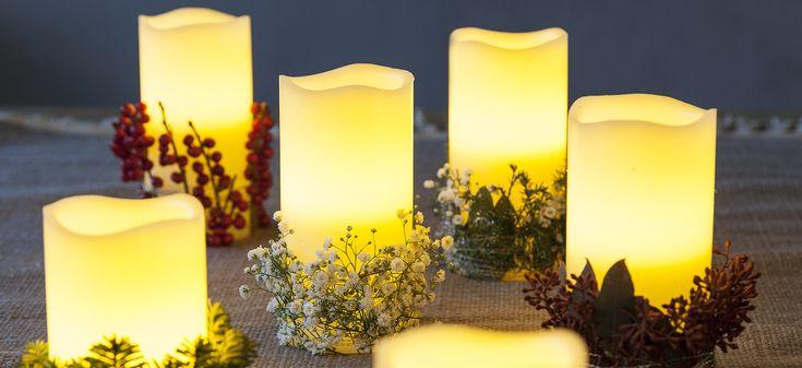 Tips til å pynte LED lys. Enkelt å dekorere rundt lyset. Dette klarer du fint selv.