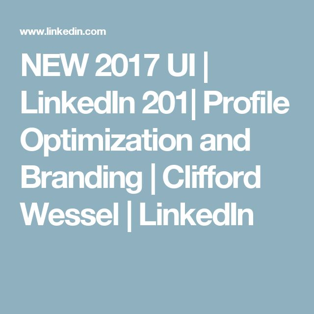 how to create a linkedin profile 2017