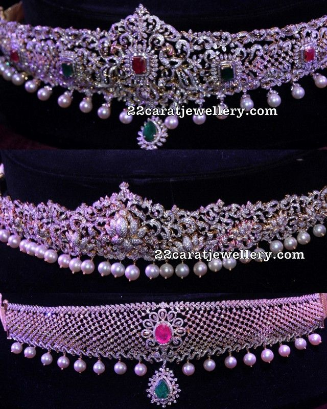 Latest Diamond Vaddanam Designs