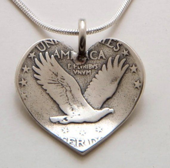 Recycled silver quarter... I am thinking of making a few of these. I would try with a half dollar first and develop technique from there.
