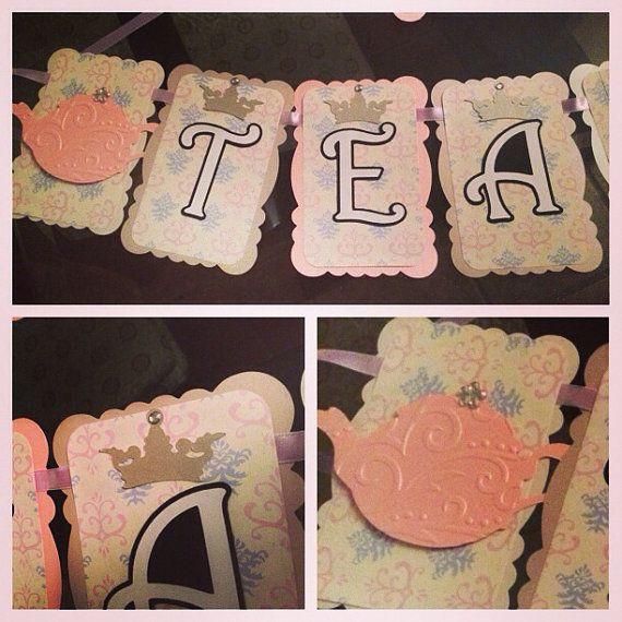 Princess Tea Party Banner/Tea Party/Royal Tea Party by @partiesbloom