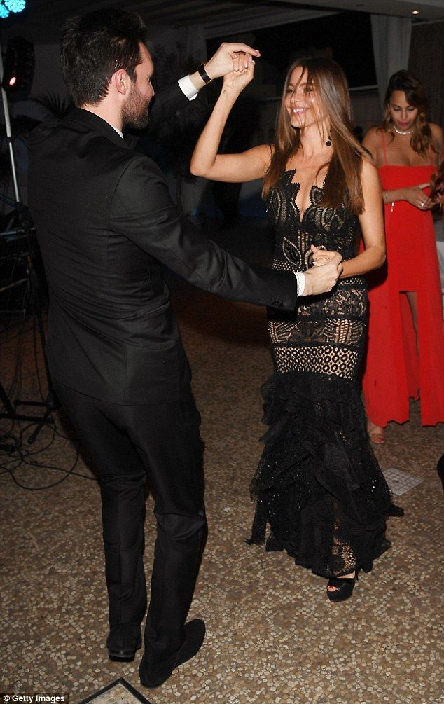 Salsa Vergara! Flirty Sofia indulged in some very sexy dance moves with handsome producer Andrea Iervolino in Rome on Thursday night