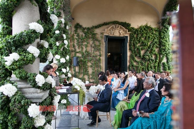White hydrangea at Villa Balbianello