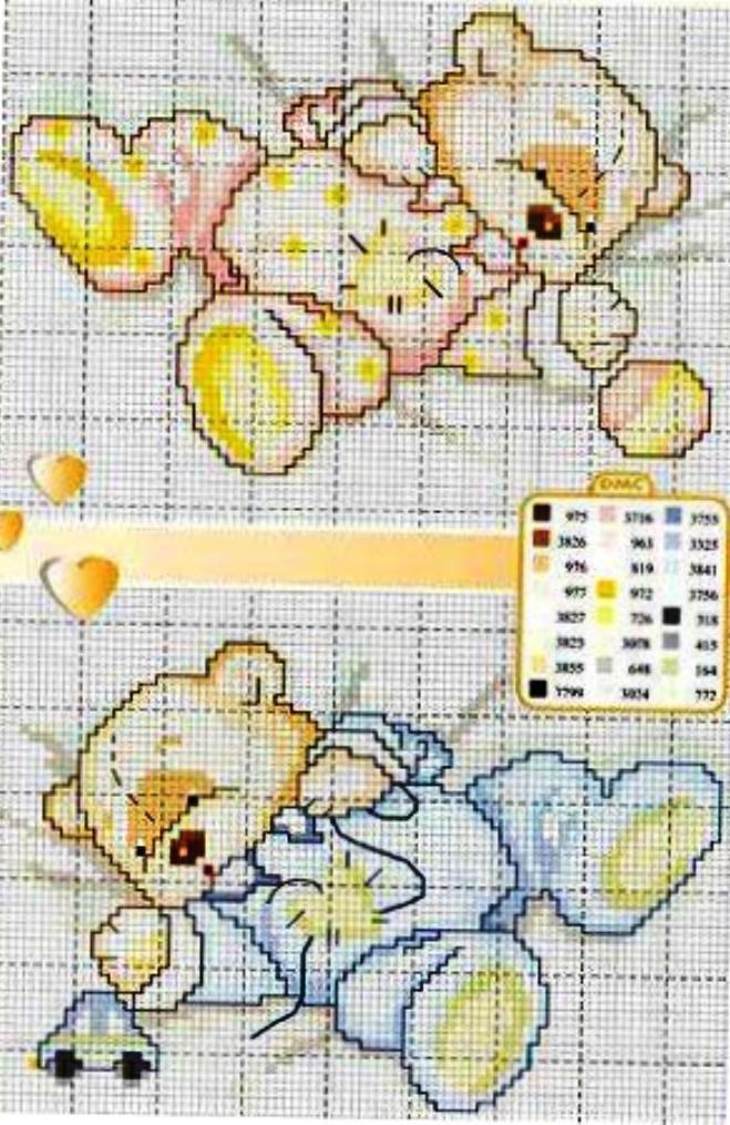 Cross-stitch Baby Bears...    https://www.facebook.com/pages/Ponto-Cruz-da-Rê/466100856859370?sk=likes