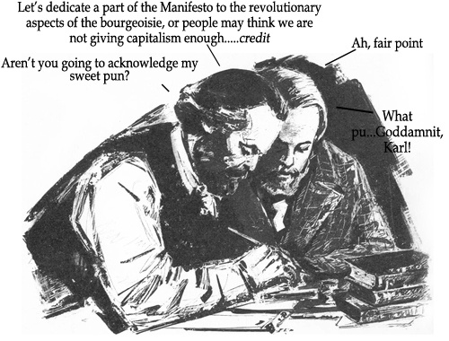 Reblogged from the delightfulstickyembraces:    The Adventures of Marx and Engels, #18