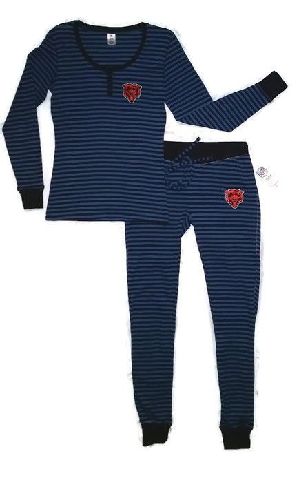 Women's #Chicago #Bears Pajamas Sz M Thermal Lounge Wear #NFL Shirt Pants Licensed from $37.95