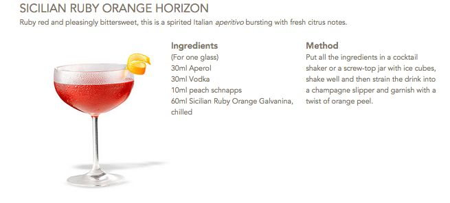 Sicilian Ruby Orange Horizon #Galvanina #drink #recipe