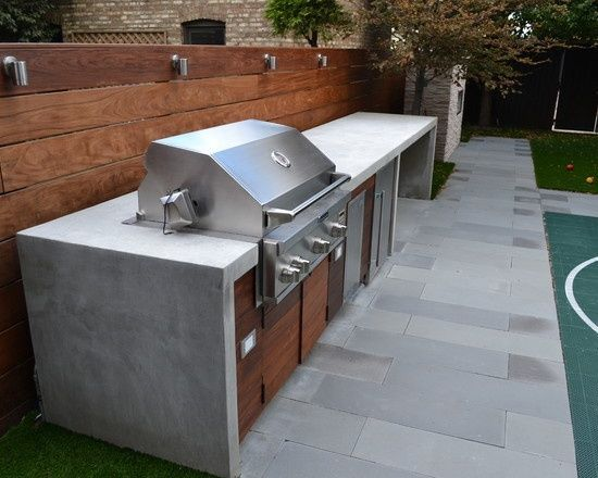 gas bbq wooden benchtop - Google Search