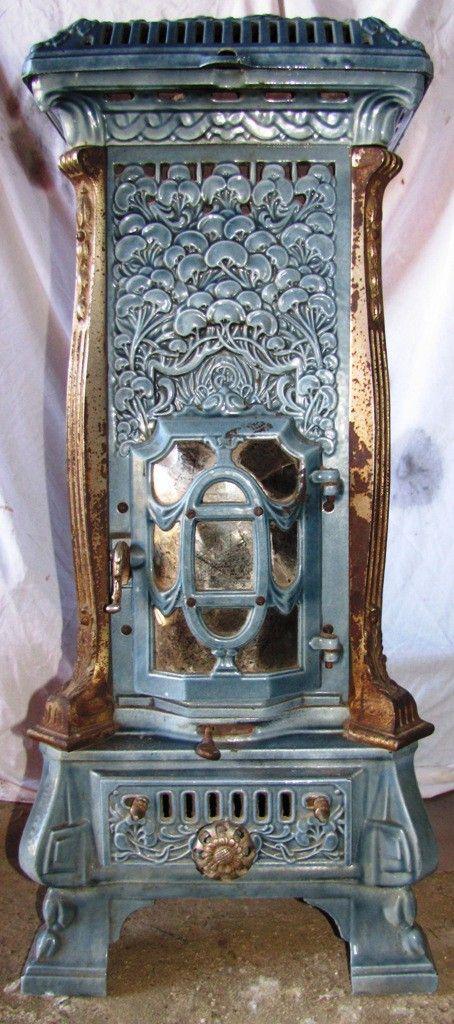 """""""Monopole 116"""" by Deville, France, Art Nouveau multi-fuel stove from the 1910's"""