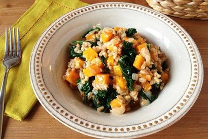 Farro Risotto with Butternut Squash and Kale (Vegan) | Tasty Kitchen: A Happy Recipe Community!