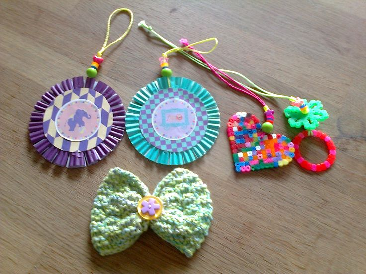Things to hang up and a knitted loop for the hair - all of it my own designs