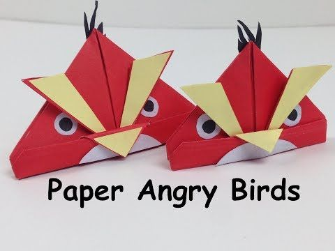 Diy Paper Crafts For Kids How To Make A Paper Angry Bird Angry
