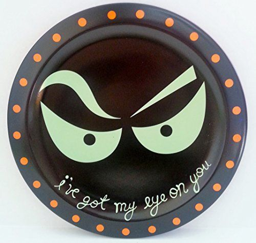 ive got my eye on you ceramic halloween plate grassland roads http - Halloween Ceramic Plates