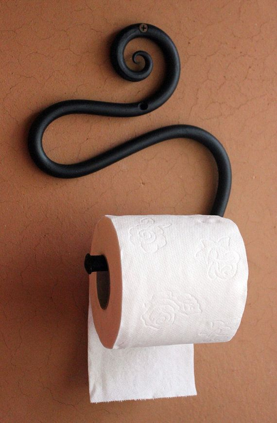 Hand-forged Wrought Iron Toilet Paper Holder