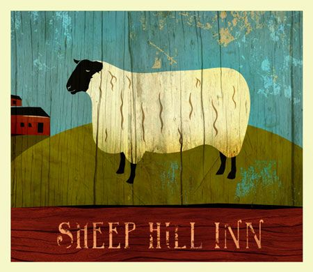 I love folk art paintings of sheep..thats all