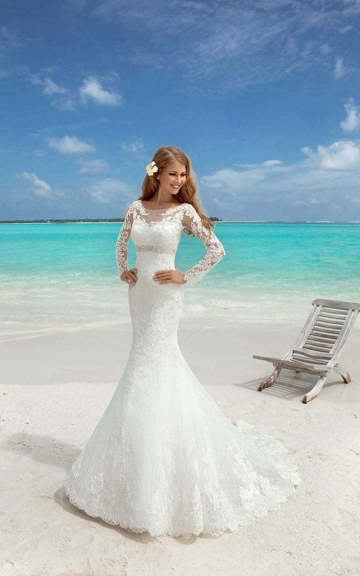 158 best Beach Wedding Dresses images on Pinterest | A line, Beach ...