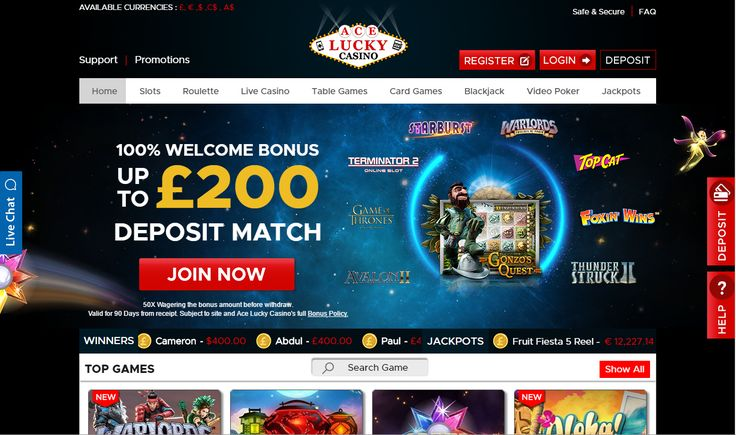 Our new online casino & mobile casino is now live at https://aceluckycasino.com/ Join now to play casino blackjack, casino roulette, casino poker, live casino games, slots games & more! Claim a 100% new player bonus now & become a member of the best new casino on the internet.