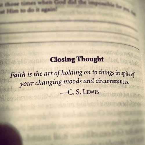 CS Lewis on faith