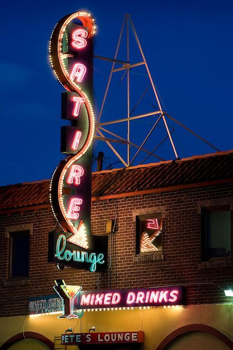 Classic Neon On Denver S Colfax Avenue The Satire Lounge Has A