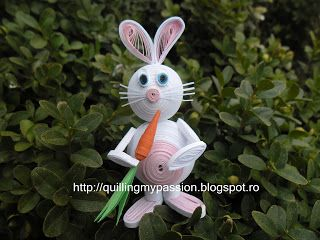 quilling my passion: quilled bunny