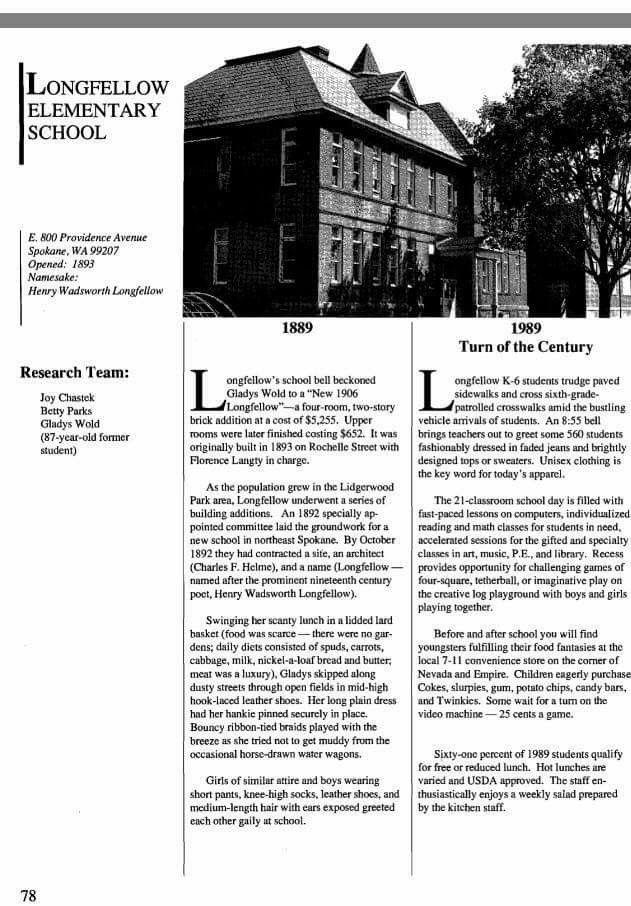Longfellow Elementary Spokane, Washington Elementary