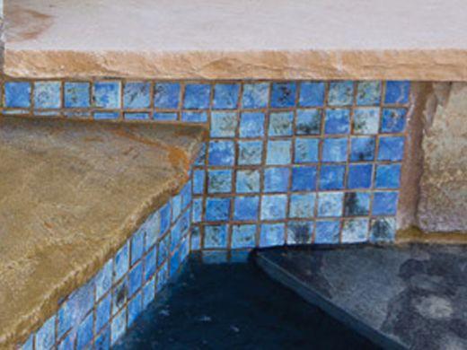 National Pool Tile Martinique Series Ocean Blue 2x2