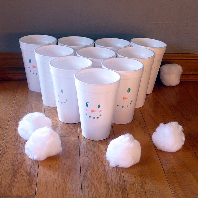 Indoor Snowball Toss Game