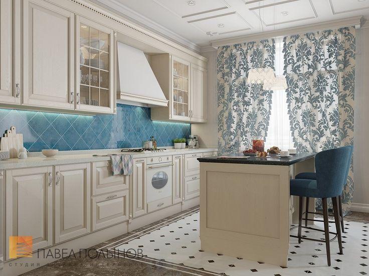 Фото: Дизайн кухни - Двухуровневая квартира в неоклассическом стиле, ЖК «Жилой дом на Пионерской», 208 кв.м.