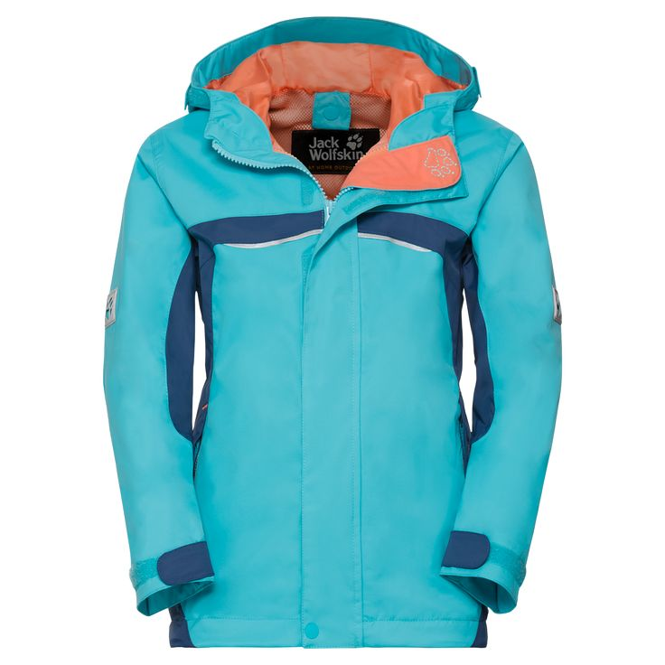 Jack Wolfskin TOPAZ TEXAPORE JKT G Hardshell girls ✓ Soft and light weatherproof shell jacket with system zip ✓ Jack Wolfskin