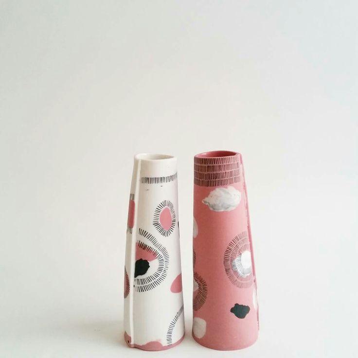 Philippa A Taylor. Porcelain slab vase.