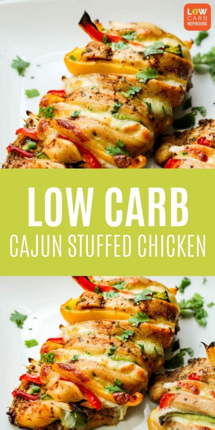 Low Carb Gefulltes Huhn Gefulltes Low Carb Cajun Low Carb Chicken Recipes Chicken Recipes