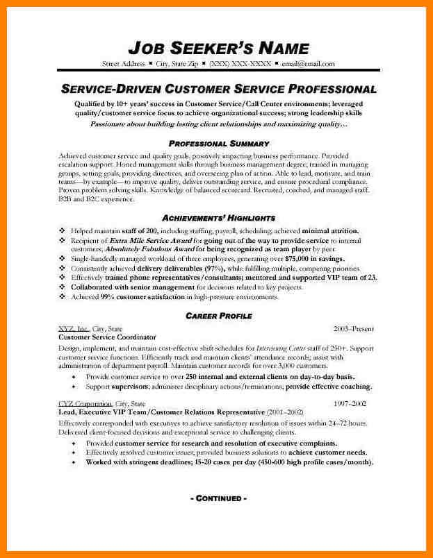 Customer Service Resume Sample Customer Service Resume Sample