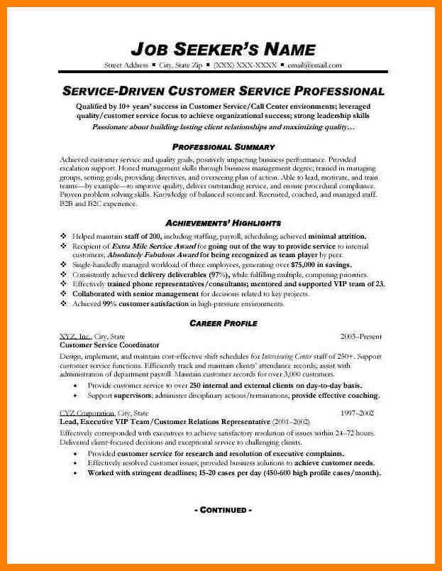 Customer Service Resume Sample Customer Service Resume Sample Customer Service Resume Sample Customer Service Representative Resume Sample Monster Polished Pr
