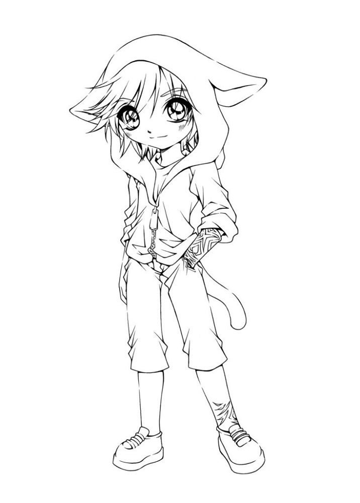Coloring Pages For Kids To Print Anime Cute Coloring Pages Cartoon Coloring Pages Chibi Coloring Pages