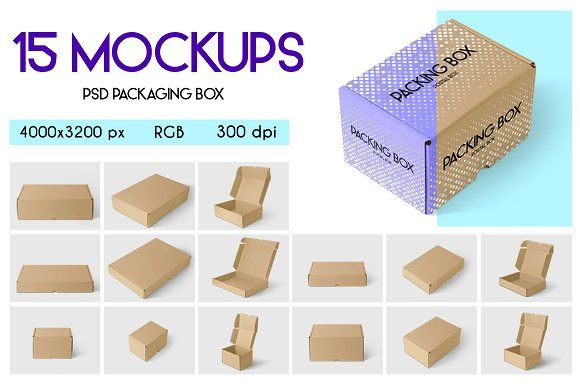 Download 15 Psd Packaging Box Mockups Product Mockups Psd Template Free Box Packaging Box Mockup