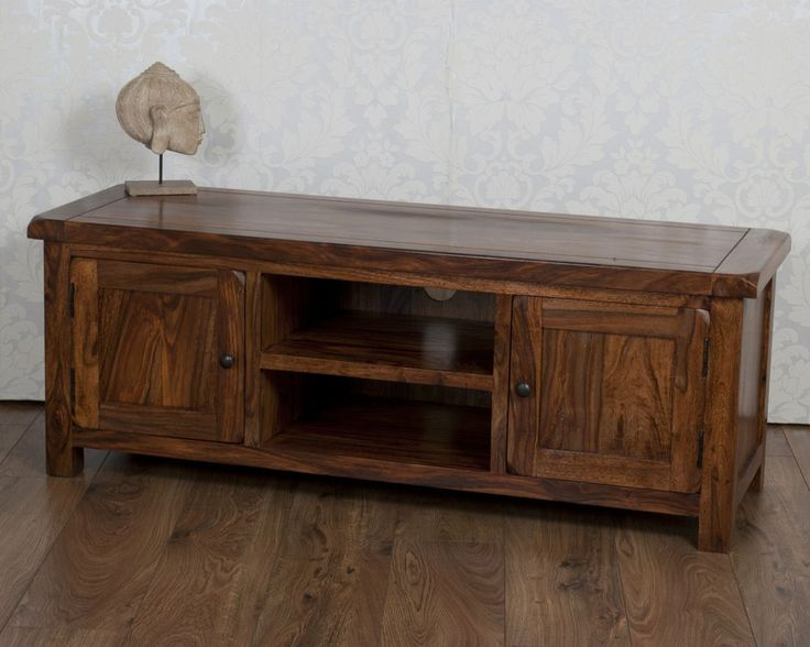 Valencia Solid Sheesham Rosewood Plasma Wide TV Bench / Cabinet / Stand / Unit in Home, Furniture & DIY, Furniture, TV & Entertainment Stands | eBay