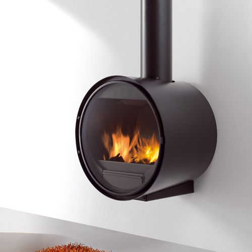 Rocal D7 Wall Mounted Wood Burning Stove
